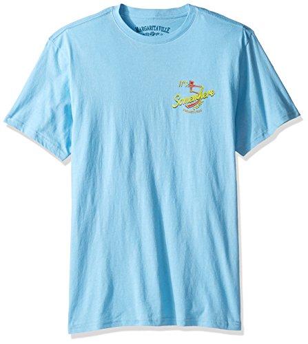 Margaritaville Men's S/s Five O'clock T-Shirt, Joey Blue, XL
