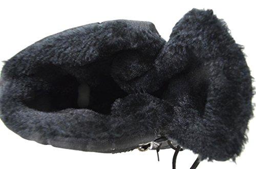 Mens Vattentät Snörning Komfort Kall Vinter Snö Stövlar (y05) Black