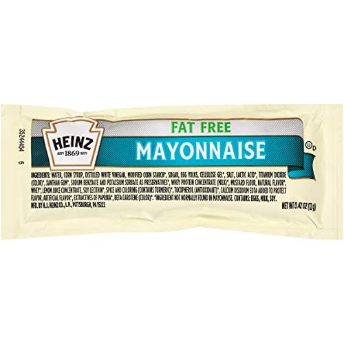 Heinz Fat Free Mayonnaise, Single Serve, 12 g. packet, Pack of 200