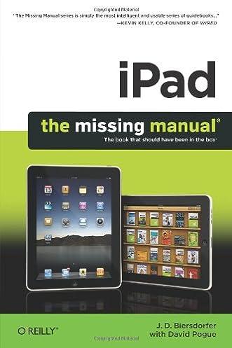 Array - ipad  the missing manual  j  d  biersdorfer  9781449387846      rh   amazon com