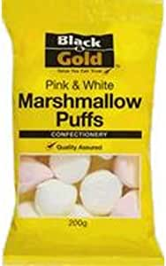 Black & Gold Marshmallows Bag 200gm