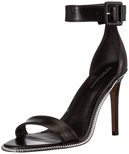 BCBGeneration Women's Janet Two Piece Sandal Heeled, Black, 5.5 M US