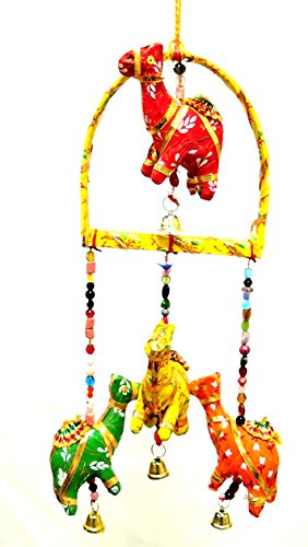 YAPREE HANDMADE CAMEL MOBILE X-MAS ORNAMENT WITH BEADS AND BELLS: 18