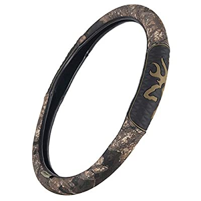 Realtree Timber Camo Browning Logo Steering Wheel Cover: Sports & Outdoors