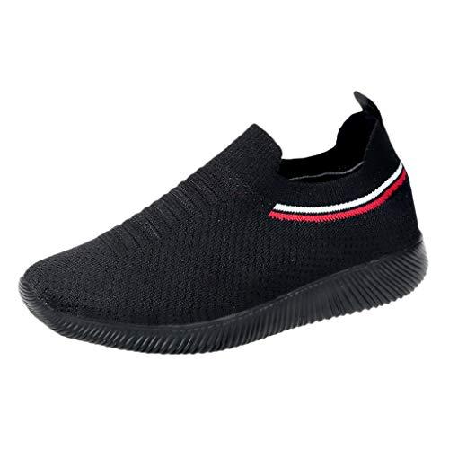 Mymyguoe Sneaker Damen Laufschuhe Schüler Schuhe Wanderschuhe Runde Toe Turnschuhe Mode Frauen Atmungsaktive Freizeitschuhe Outdoor Anti-Rutsch Bequeme Sportschuhe Gym Schuhe