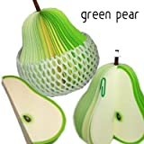 Pear Fruit Shape Memo Pad - Pack of 2 (1d13)- Non sticky Note Scratch Paper Notepad