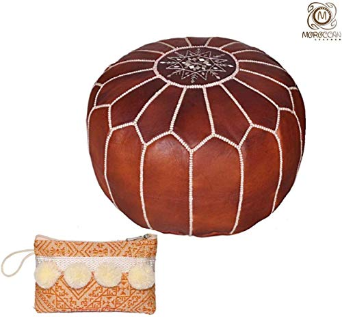 White Ottomans, Footstools & Poufs Furniture Beautiful Handmade Real Moroccan Leather Pouffe Pouf Ottoman