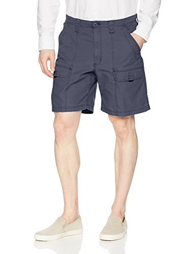 Wrangler Authentics Men's Canvas Utility Hiker Short, newport navy, 33 Cotton Cargo Pocket Shorts