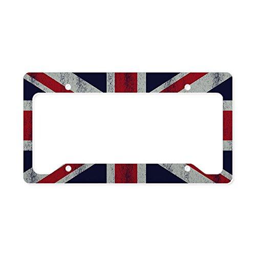 CafePress - British UK Flag Union Jack Gr - Aluminum License Plate Frame, License Tag Holder for cheap