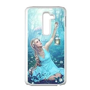 LG G2 Cell Phone Case Covers White Alice in Wonderland Cofv