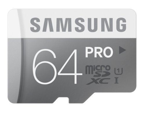 Samsung 64GB PRO Class 10 Micro SDXC up to 90MB/s by would mean of  Adapter (MB-MG64DA/AM) Black Friday & Cyber Monday 2015
