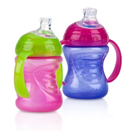 Nuby Count Handle Spill Purple