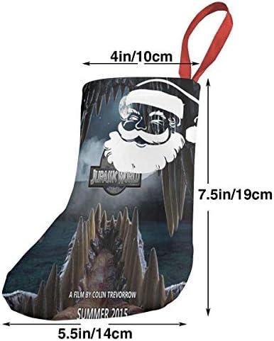 クリスマスの日の靴下 (ソックス3個)クリスマスデコレーションソックス ジュラ紀の世界の恐竜 クリスマス、ハロウィン 家庭用、ショッピングモール用、お祝いの雰囲気を加える 人気を高める、販売、プロモーション、年次式