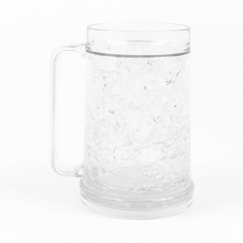 Freezer Mug - Double Wall -16oz. Capacity - Clear