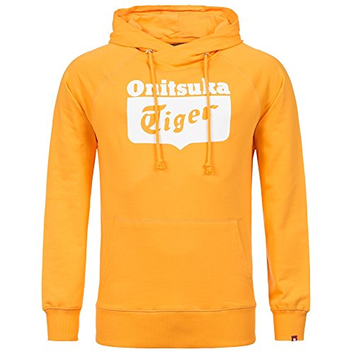 Onitsuka Tiger Felpa con Cappuccio Logo Core Hoodie, Gold Fusion