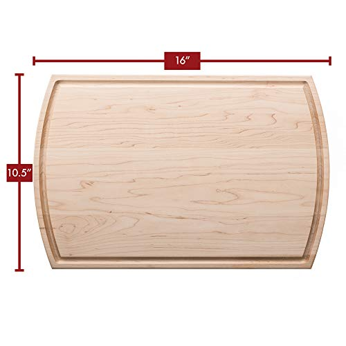 Maple Wood Chopping Board - Maple Wood Cutting Board 16 in x 10 ½ in x 3/4 in