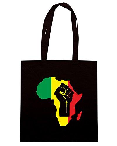 T-Shirtshock - Bolsa para la compra T0684 black power africa politica Negro