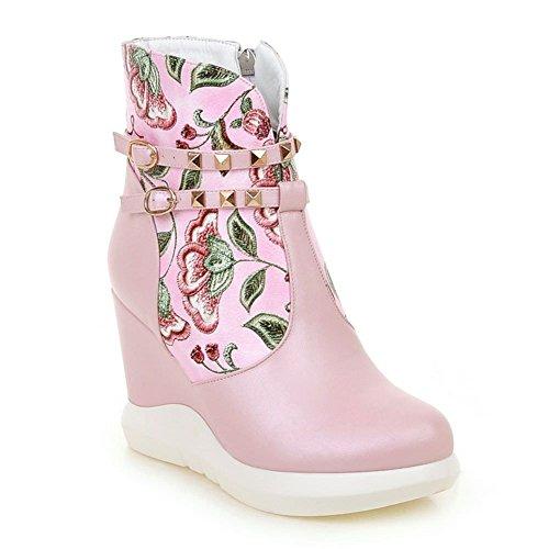 DecoStain Women's Hidden Wedge Heel Winter High Top Boots Ladies Ankle Sneaker Army Biker New x2rT4TI