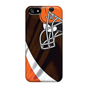 High Quality SuperMaryCases Cleveland Browns Skin Case Cover Specially Designed For Iphone - 5/5s
