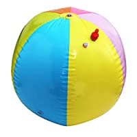 Oillian Inflatable Beach Ball Water Balloons Outdoor Sport Ball Multicolor Fun Toy for Kids