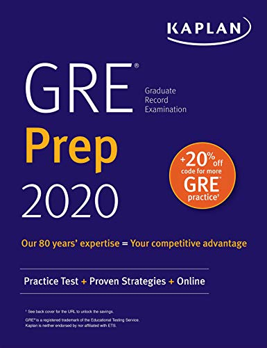 GRE Prep 2020: Practice Tests + Proven Strategies + Online (Kaplan Test Prep) (English Edition)