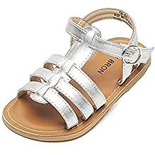 THEE BRON Girls Toddler//Little Kid Classic Sandals Flat Shoes