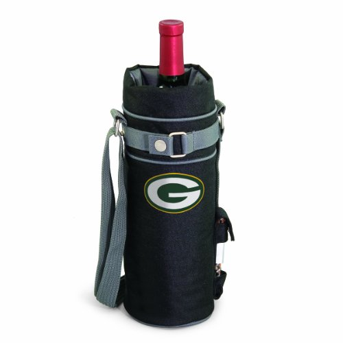 Nfl Bottle Cork Set - NFL Green Bay Packers Insulated Single Bottle Wine Sack with Corkscrew