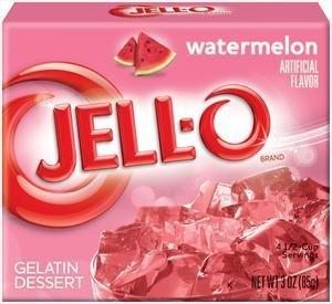 Jell-O Watermelon Flavor Gelatin Dessert, 3 Ounce Box (4-Pack)