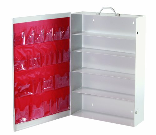 Medique Products 738MTM Five Shelf First Aid Cabinet, Empty with - Aid Shelf 5 First