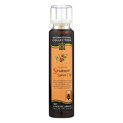 International Collection Sesame Spray Oil - Toasted - Case of 6 - 6.76 Fl ()