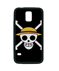 One Piece Logo ~ Fashion Durable Unique RUBBER Durable Case Cover Skin for Samsung Galaxy S5 i9600 - Black Silicone Case / ABCone Tpu Protective S5 Case