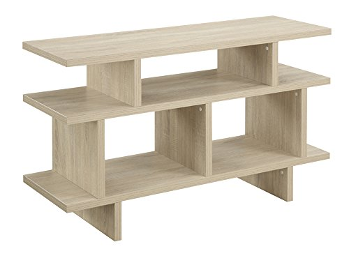 Convenience Concepts Designs2Go Key West TV Stand Console, 48-Inch, Weathered White For Sale