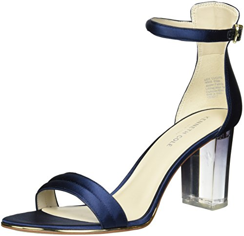 Kenneth Cole New York Womens Lex Lucite Hæl Kjole Krenget Sandal Navy