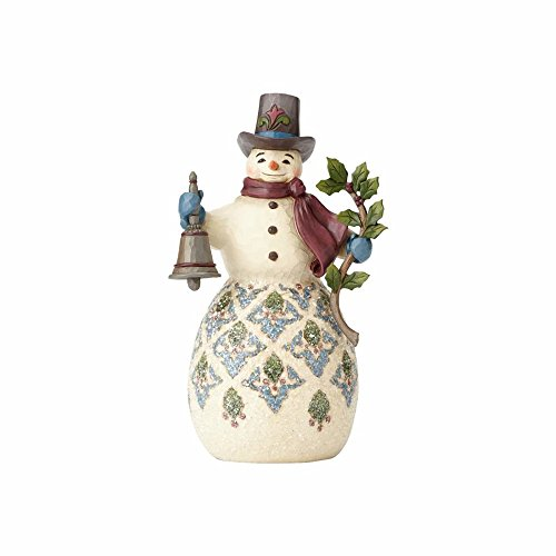 Enesco Jim Shore Heartwood Creek Victorian Snowman with Bell