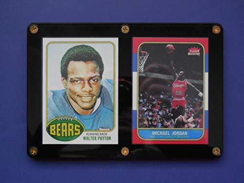 2020 Topps Basketball - Walter Payton 1976 Topps, Michael Jordan 1986 Fleer (2) Card Rookie Reprint Lot (In a 1/4