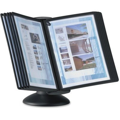 DURABLE SHERPA 10-Panel Motion Desktop Reference System, Black Borders (553901) Durable Sherpa Desk