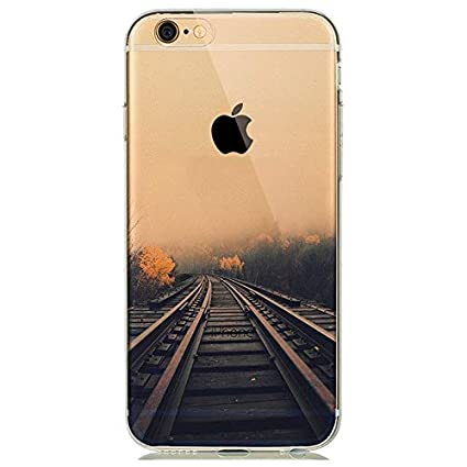 Amazon com: MISC Clear Railway Track iPhone 7 Case Nature