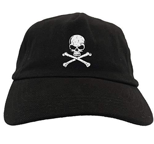 Tcombo Skull and Crossbones - Pirate Dead Dad Hat (Black)