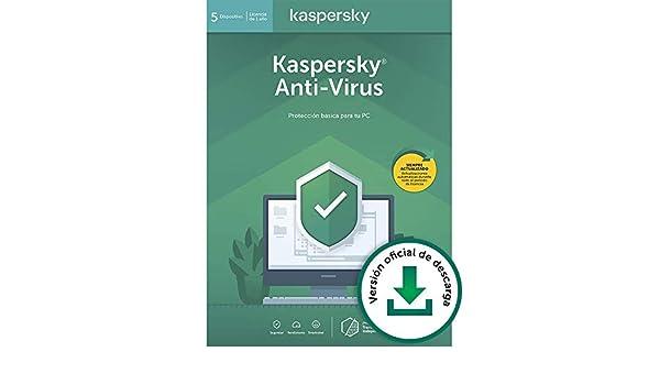 Kaspersky Anti-Virus 2020   5 PCs   1 Año   PC   Código de activación vía correo electrónico: Amazon.es: Software