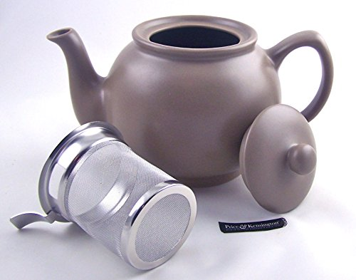 6 Cup Teapot with Fitted Infuser - Fine Stoneware by Price &