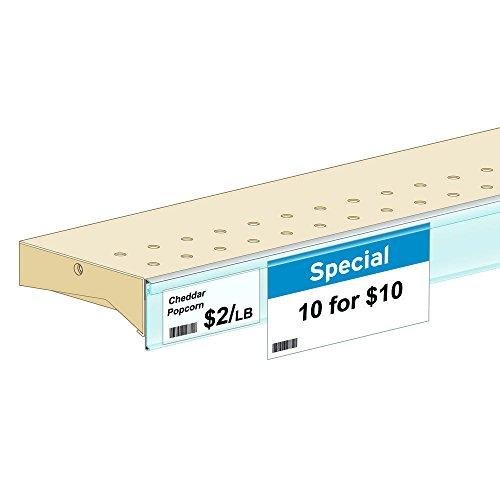 Self Adhesive Shelf Label Holders ClearGrip White Plastic - 1 1/4