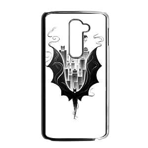 LG G2 Cell Phone Case Black Batman City Scape LSO7872731