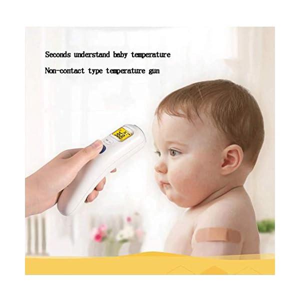 Ftaosh Termómetro, Termómetro Infrarrojo Frontal Digital, Termómetro Táctil De Modo Dual, Termómetro Médico Digital para Bebés, Niños Y Adultos,A 2