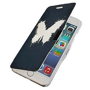WQQ mariposa del tirón magnético caso de cuerpo completo con el agujero para el iphone 6