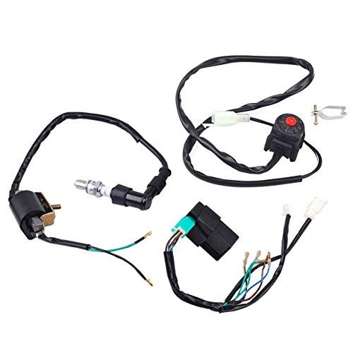 110 Cc Mini Pocket Bikes - ZXTDR Wire Harness Wiring Loom CDI Ignition Coil Spark plug Rebuild Kit for Kick Start Dirt Pit Bike ATV 50-160cc