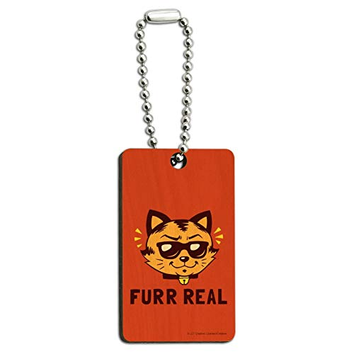 Furr Real Cat for Funny Humor Wood Wooden -