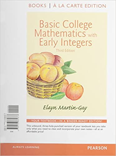 Basic College Math w/Early Integers Books a la Carte Edition Plus ...