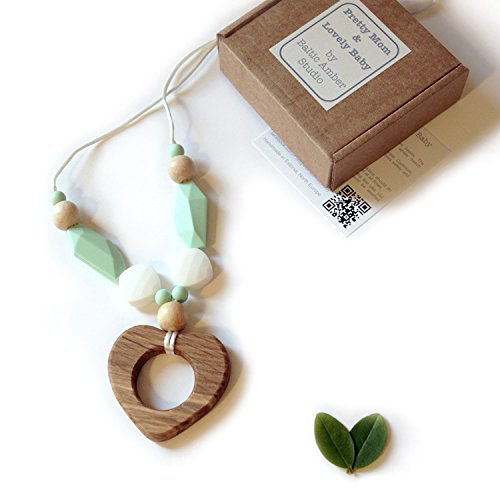 Designer Teething Necklace Silicone Natural product image