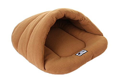 Spring Fever Washable Soft Comfort Warm Colorful Pet Bed Dog Puppy Cat House Camel L (22.8×26.8 inch) For Sale