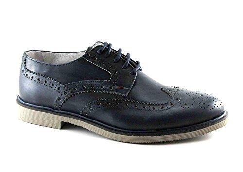 CAFè NOIR RB112 blu scarpe uomo derby inglese pelle lacci Blu Compra En Línea El Más Barato Comprar En Línea Nueva eNTWug2V